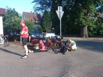 2014-07-22 Haderslev-Paris, 1. etappe i Tyskland - Tiltrengt matpause.