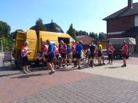 2014-07-22 Haderslev-Paris, 1. etappe i Tyskland - Formiddagskaffe og mat.