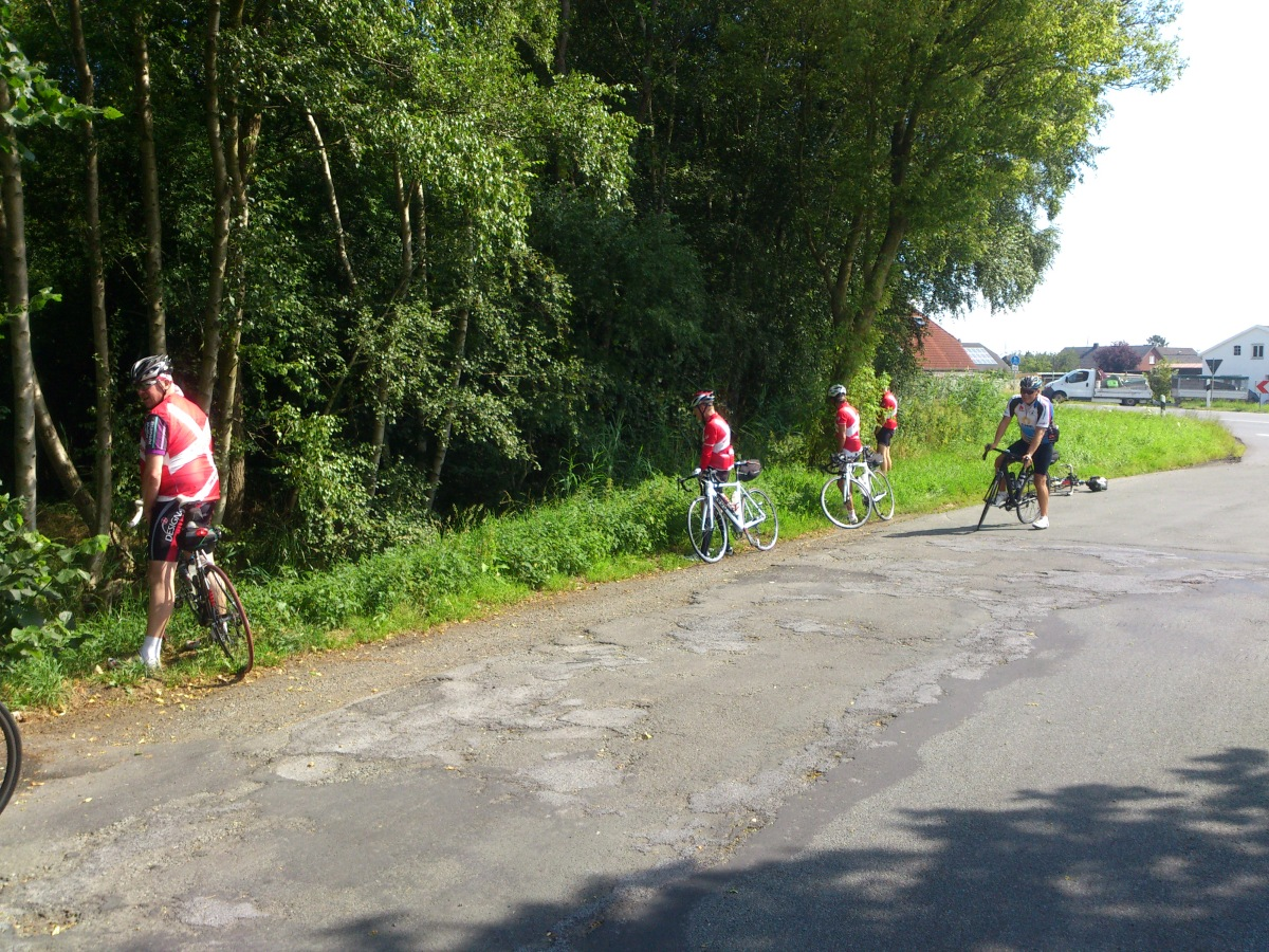 2014-07-22 Haderslev-Paris, 1. etappe i Tyskland - Enda en teknisk pause.