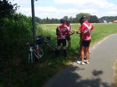 2014-07-22 Haderslev-Paris, 1. etappe i Tyskland - Etappens fjerde punktering.