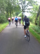 2014-07-22 Haderslev-Paris, 1. etappe i Tyskland - Siste par mil av etappen.