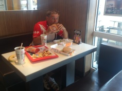 2014-07-23 Haderslev-Paris, 2. etappe i Tyskland - Godt med junk food