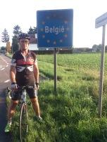 2014-07-23 Haderslev-Paris, 2. etappe i Belgia - Grensen Nederland-Belgia.