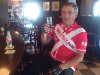 2014-07-23 Haderslev-Paris, 2. etappe i Belgia - På bar.