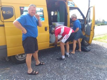 2014-07-23 Haderslev-Paris, 3. etappe i Belgia - Matforsyninger.