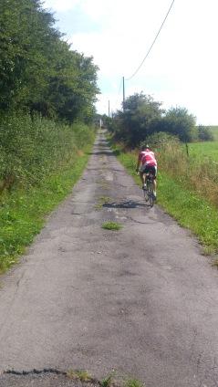2014-07-23 Haderslev-Paris, 3. etappe i Belgia - Flere bakker.