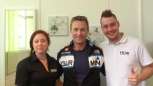2015-03-24 Samarbeidsavtale med Elin og Sean ved Frisk Helseklinikk på Ålgård.