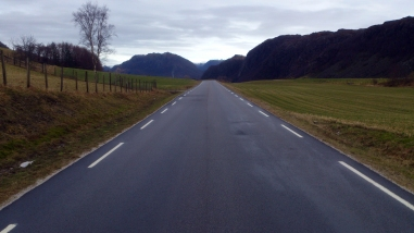 2016-02-10 - 200 km Vinter Brevet - Ognedal, på vei mot Vikeså.