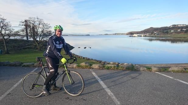 2016-04-16 Helge Olav klar for start på 200 km Brevet :).