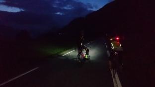 Ved Malmei var det overskyet og skikkelig mørkt ble det.