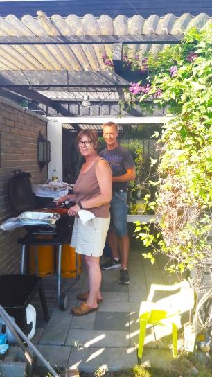 Grilling hjemme hos Pia, min lillesøster.