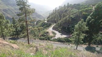 På vei til Soria på GC505. Bildet viser dalen jeg nettopp har syklet gjennom.