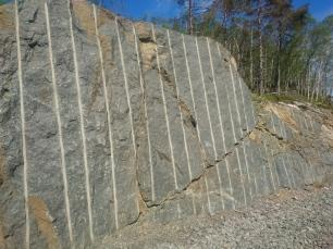 Mye fjell har blitt sprengt for å få vei over til Hauge i Dalane.