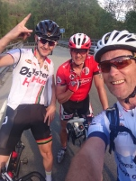 På Eia traff vi på Sandnes syklisten, Jone Ellingsen.