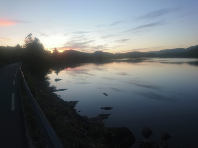 Kveldsstemning mellom Eia og Helleland.
